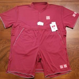 6ee81e95 Uniqlo Shirts - Uniqlo Roger Federer Men's Dry-Ex Polo & Shorts